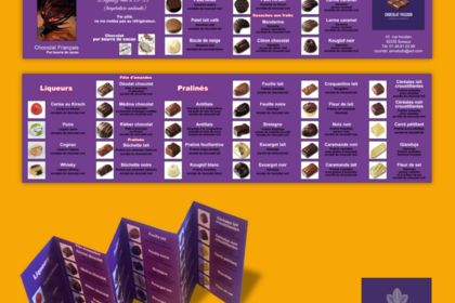 Dépliant 6 volets Chocolat passion