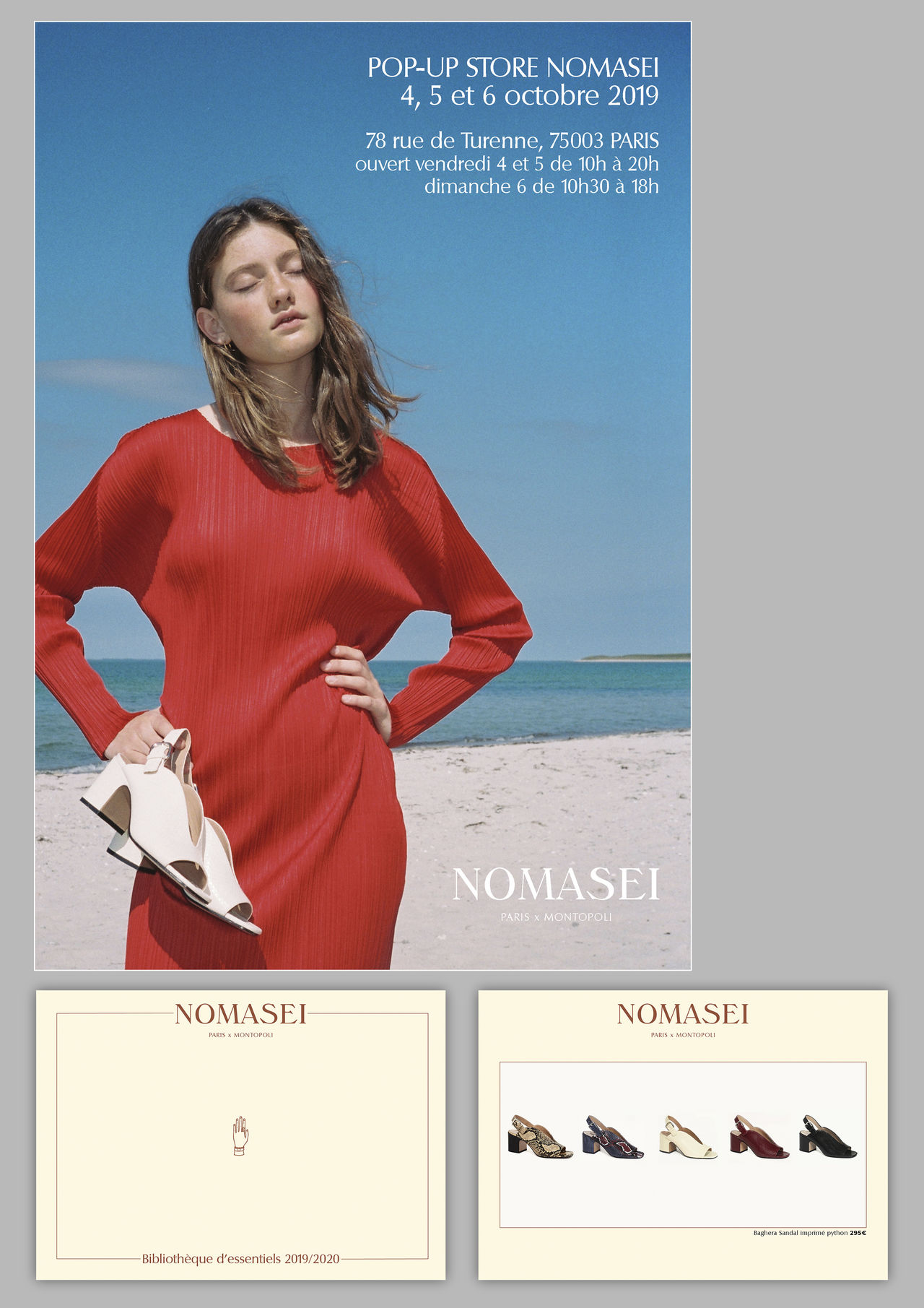 "Catalogue et invitation ""NOMASEI"""