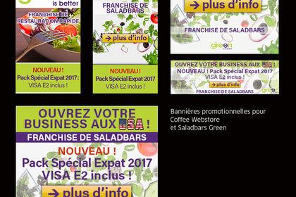 Bannières Coffee Webstore et Saladbars Green