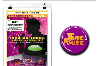 """Identité graphique et site web """"Time to Buzz"""""""