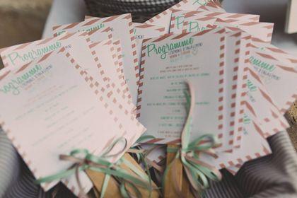 Programme cérémonie mariage