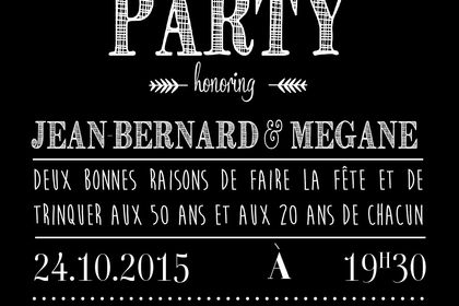 Invitation anniversaire N&B