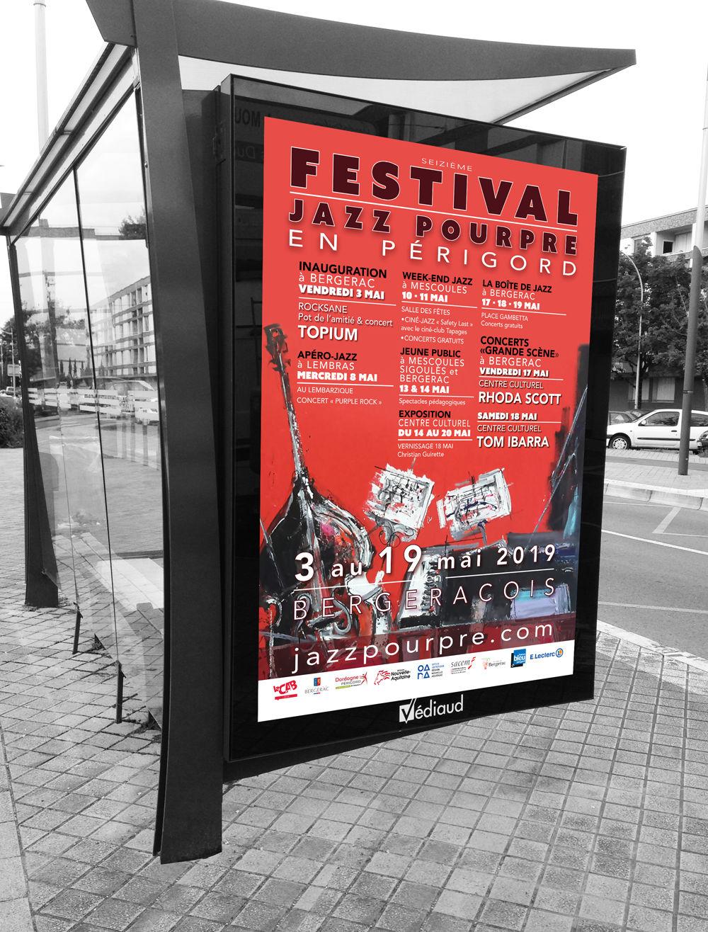Affiche abri-bus pour un festival