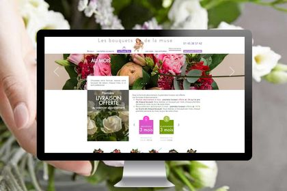 Site e-commerce : fleuriste