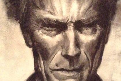 Dessin Clint Eastwood