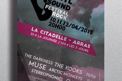 Affiche VinylSound, festival Rock