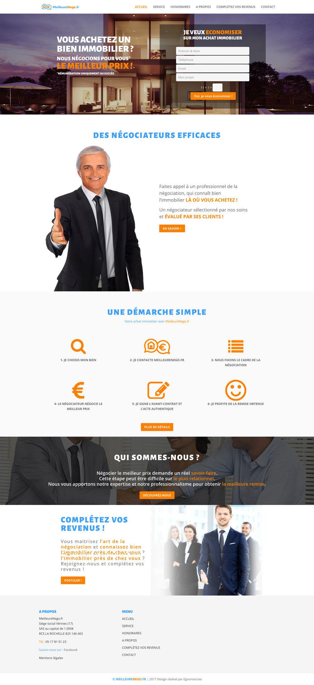 Création de site web pour meilleurenego.fr