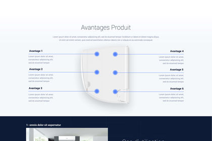 Design de la page d'accueil du site web Airton