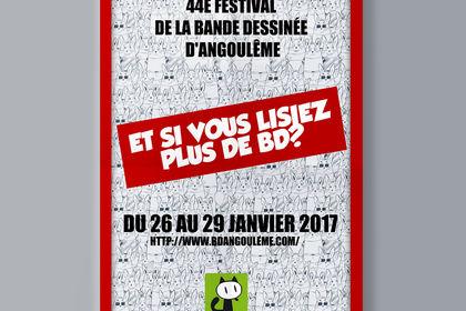 Affiche pour le festival de BD d'Angoulême