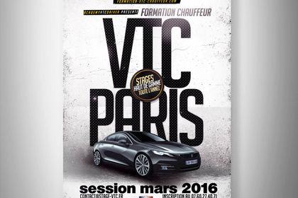 Création affiche pour une société de VTC