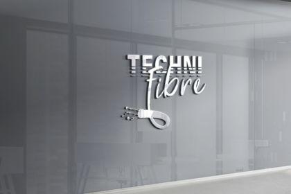 Réalisation logo fibre optique