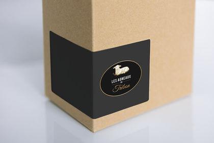 Réalisation etiquette packaging logo