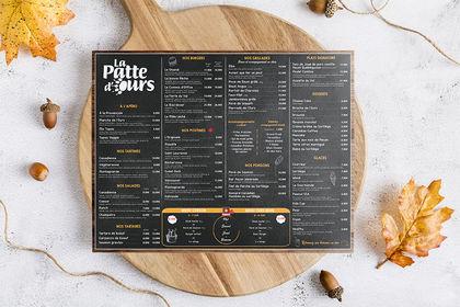 Réalisation set de table menu