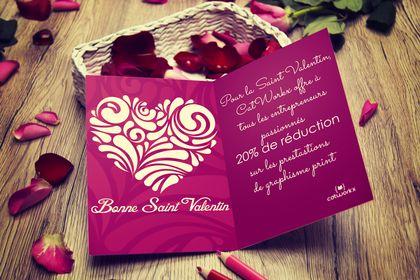 Carte promo saint valentin