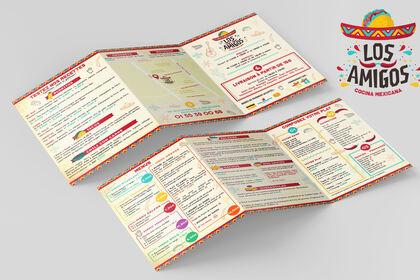 Création flyer restaurant mexicain