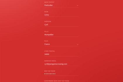 Design page formulaire