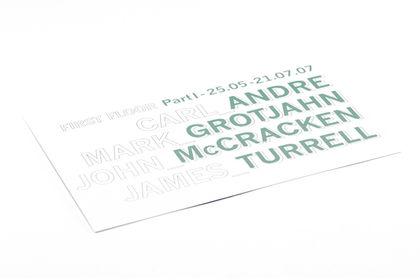 Galerie Almine Rech Carton d'invitation