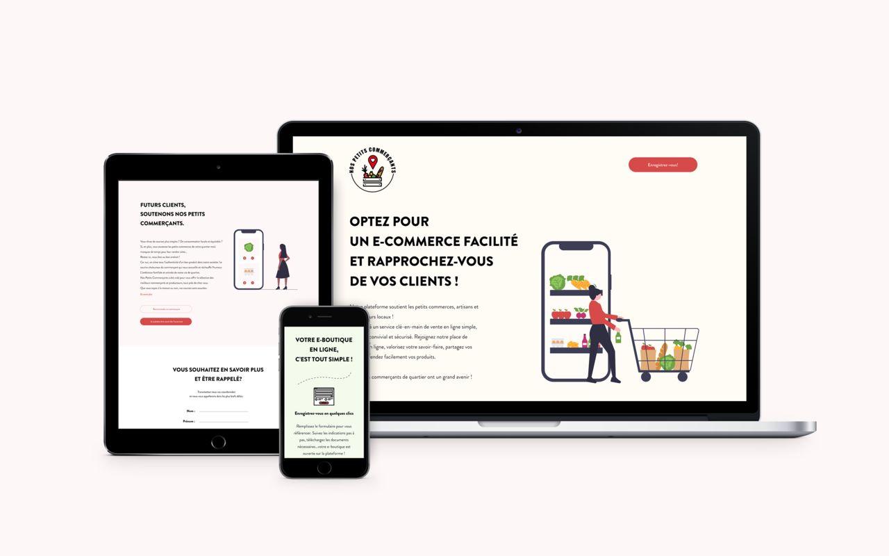 Nos petits commerçants I site web