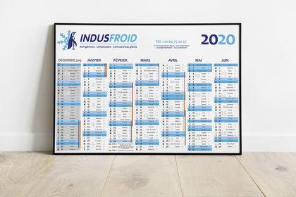 Calendrier 2020 pour Indusfroid