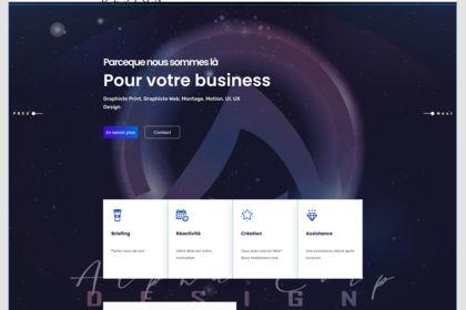 Création interface site web avec prototypage UI/UX