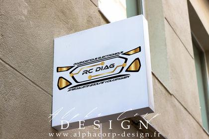 Création logo pour l'entreprise RC Diag