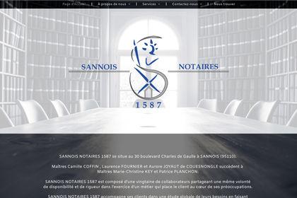 Création site sannois-notaires.fr