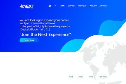 Wenext.io Landing Page