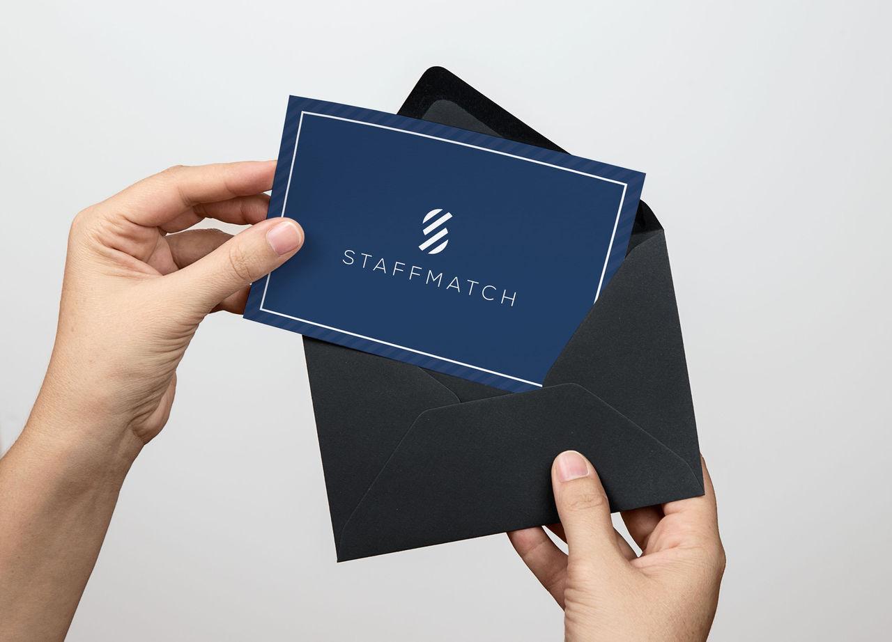 Carte de remerciement - Staffmatch