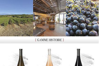 Publicité pour domaine viticole