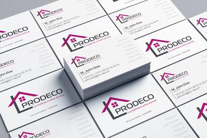 Cartes de visite de la société PRODECO