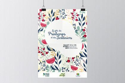 Affiche fête du Printemps et des Jardiniers
