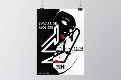 Affiche L'Avare de molière - TNB