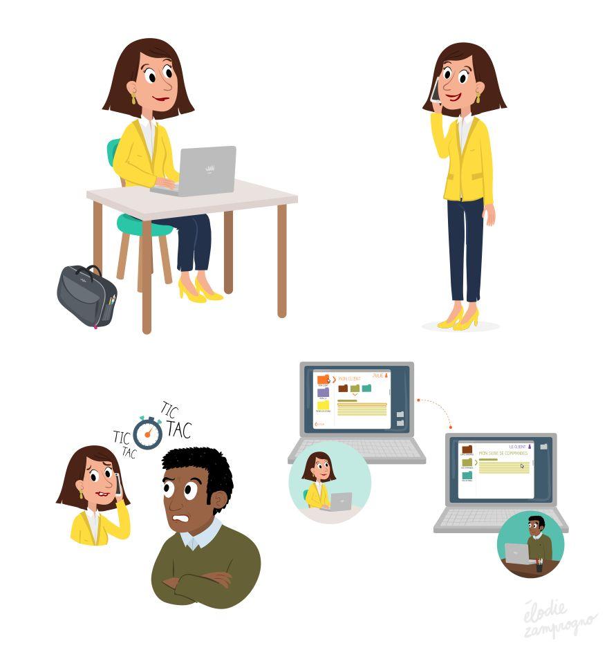 Illustrations outils de l'entreprise