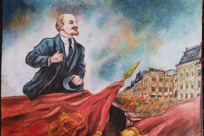 Lenin on the tribune