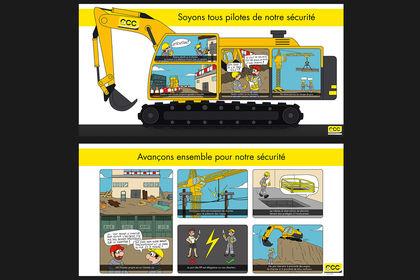 Illustrations des affiches préventions GCC