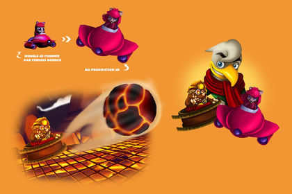 Illustrations pour le jeu vidéo Furious Bounce