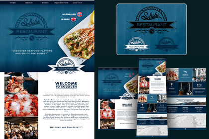 Logo et webdesign pour Solsiden Restaurant