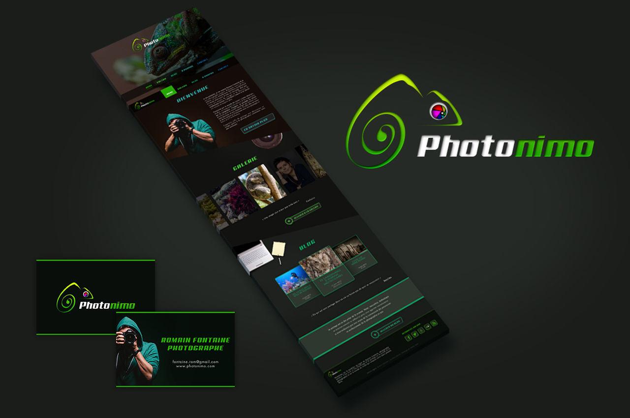 Photonimo : logo, carte de visite et webdesign