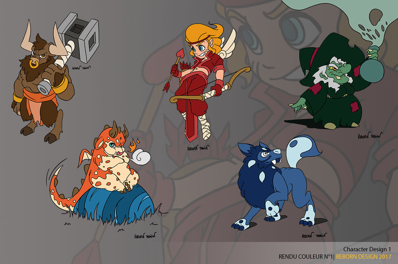 Illustrations cartoon de personnages