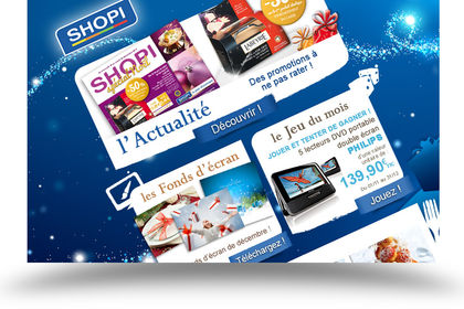Newsletters mensuelles Shopi