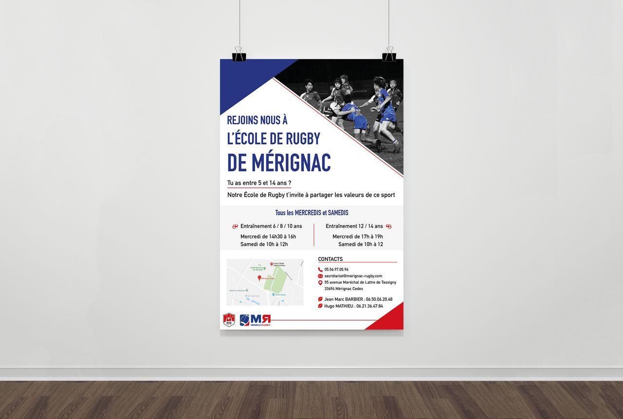 Flyer Mérignac Rugby