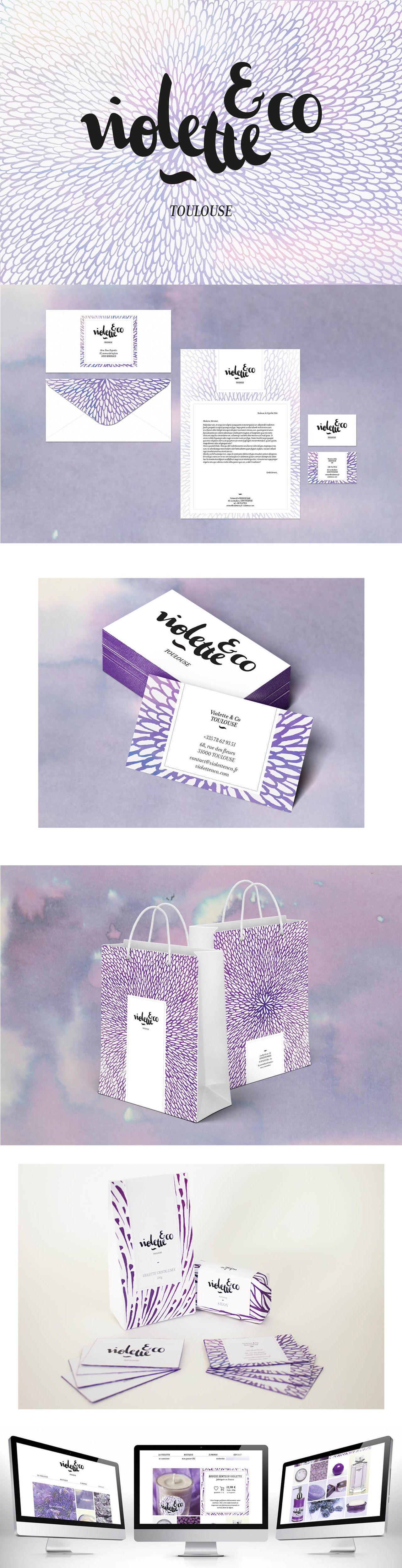 Violette & co • Identité visuelle