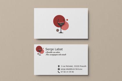 Logo et cartes de visite pour Serge Labat