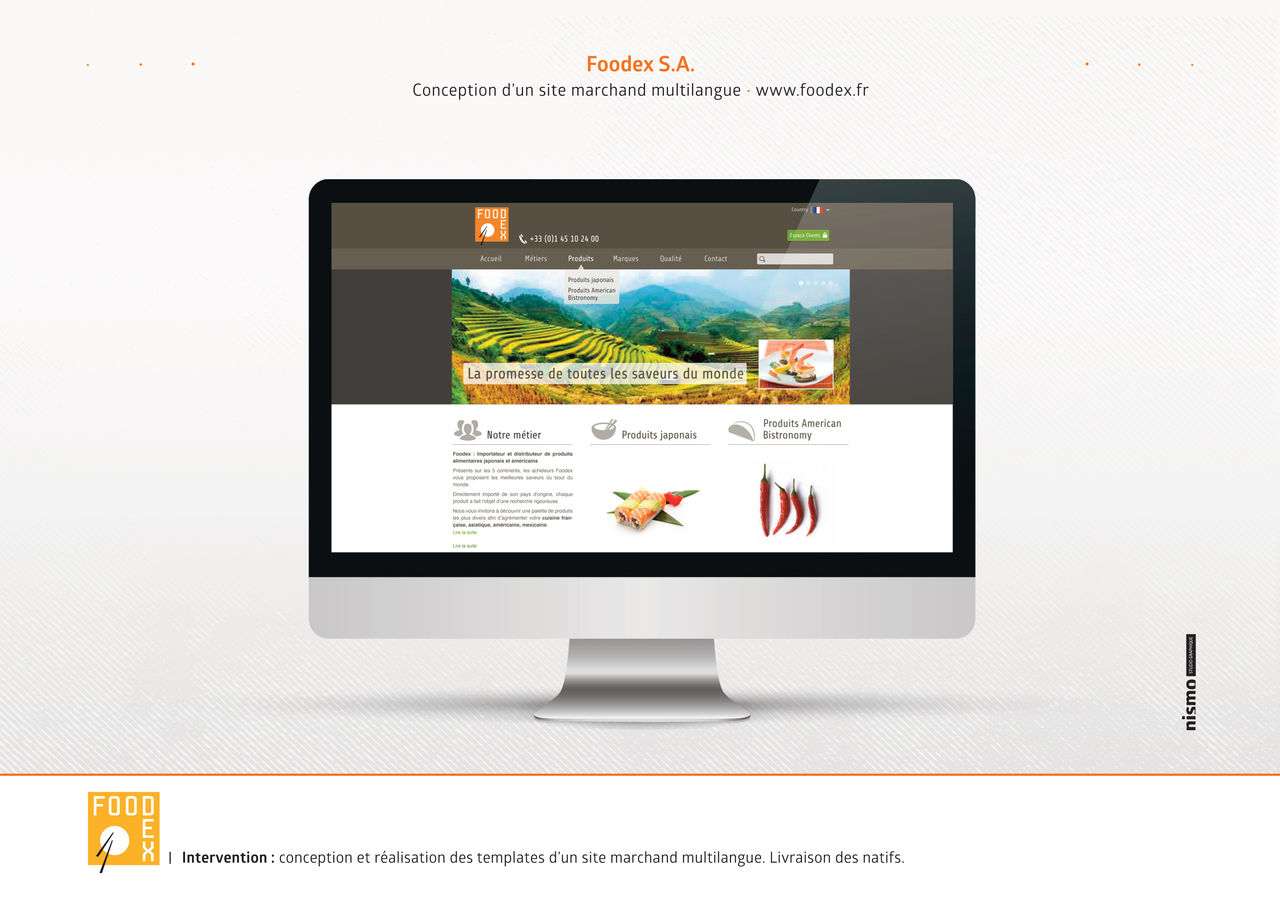 Site marchand multi-langues Foodex