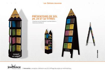 Présentoirs de sol • Editions Jouvence