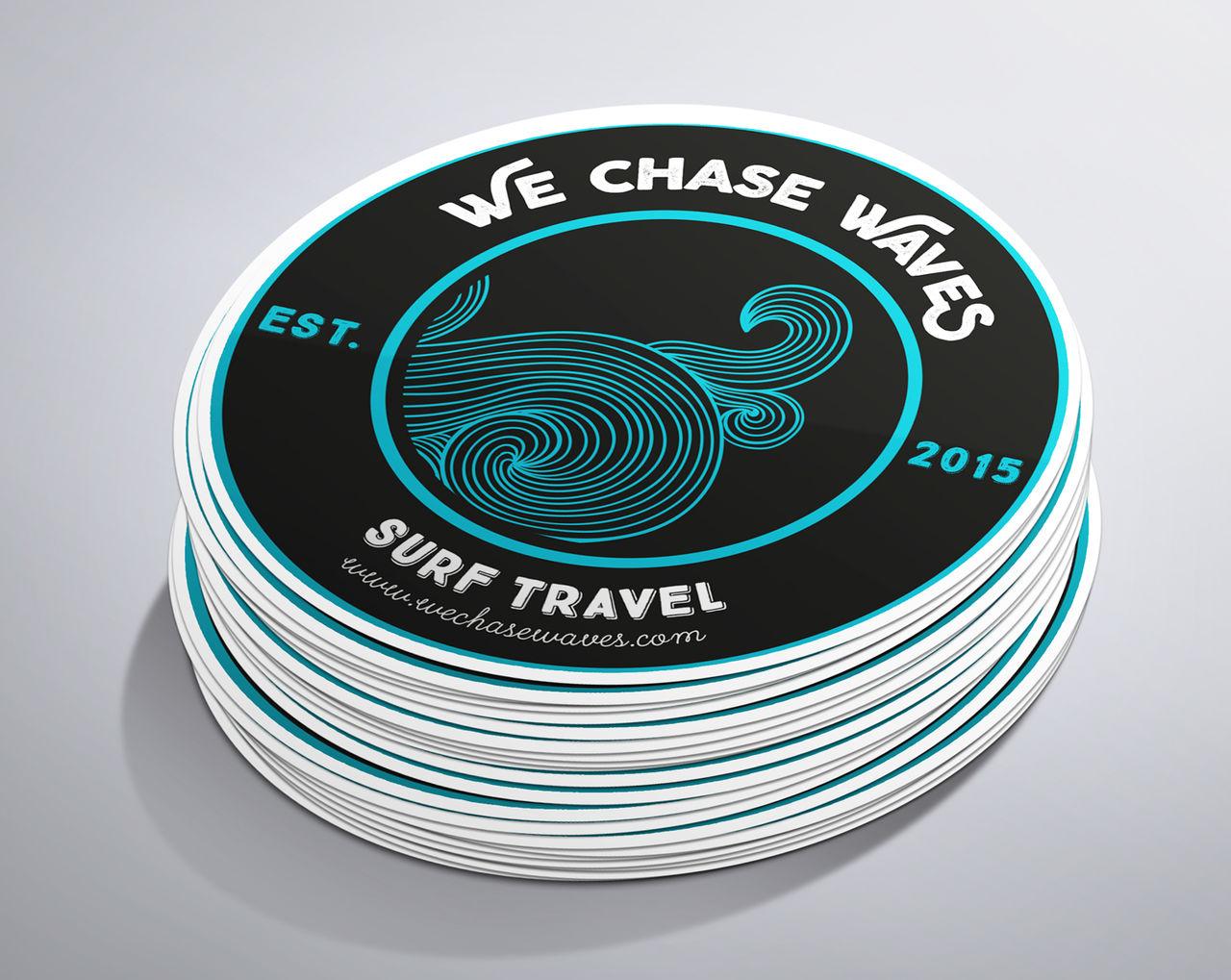 Création du logo We Chase Waves
