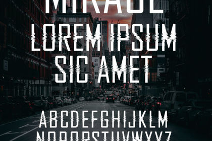 Typographie Mirage
