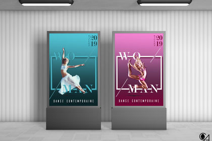 "Affiches ""Danseuses"" - photomontage"