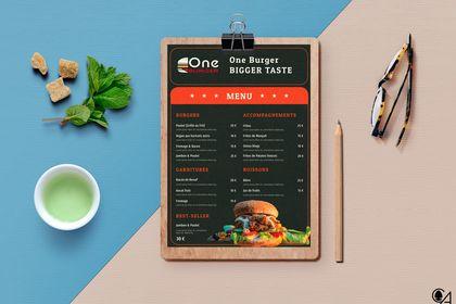 """Menu """"Burger One"""""""