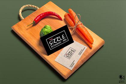 """Cartes de visite """"Sizzle - Restaurant BBQ"""""""